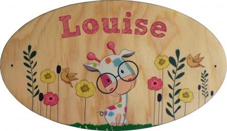 Plaque de Porte en bois Modèle 12 Gravure Events - Cadeau personnalisé - 1