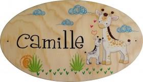 Plaque de Porte en bois Modèle 13 - Cadeau personnalise personnalisable - 1