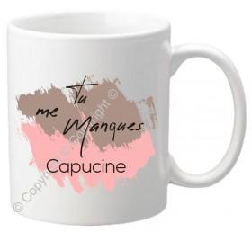 Mug - Tu me Manques - Cadeau personnalise personnalisable - 1