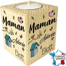 Porte Bougie personnalisable Maman adorée (mod8) - Cadeau personnalise personnalisable - 1