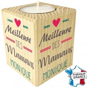 Porte Bougie personnalisable Meilleure des Mamans (mod11) - Cadeau personnalise personnalisable - 1