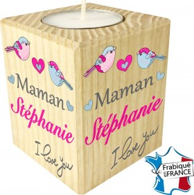 Porte Bougie personnalisable Maman I love you (mod71) - Cadeau personnalise personnalisable - 1