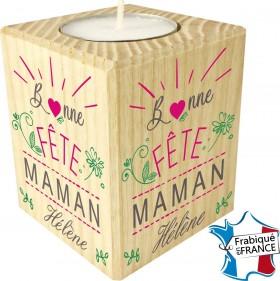 Porte Bougie personnalisable Bonne fête Maman (mod10) - Cadeau personnalise personnalisable - 1