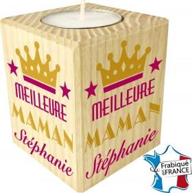 Porte Bougie personnalisable meilleure Maman (mod70) - Cadeau personnalise personnalisable - 1