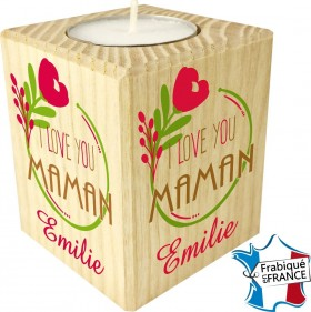 Porte Bougie personnalisable I Love You Maman (mod66) - Cadeau personnalise personnalisable - 1