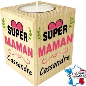 Porte Bougie personnalisable Super Maman (mod64) - Cadeau personnalise personnalisable - 1