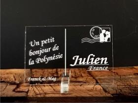 Marque Place Carte Postale - timbre mariés - Cadeau personnalise personnalisable - 1