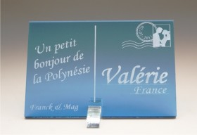 Marque Place Carte Postale - timbre mariés - Cadeau personnalise personnalisable - 4