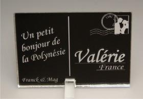 Marque Place Carte Postale - timbre mariés - Cadeau personnalise personnalisable - 9