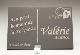 Marque Place Carte Postale - timbre mariés - Cadeau personnalise personnalisable - 10