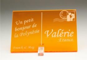 Marque Place Carte Postale - timbre mariés - Cadeau personnalise personnalisable - 11