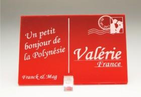 Marque Place Carte Postale - timbre mariés - Cadeau personnalise personnalisable - 12