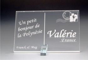 Marque Place Carte Postale - timbre mariés - Cadeau personnalise personnalisable - 2