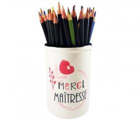 Pot Crayon Merci Maîtresse - Cadeau personnalise personnalisable - 1
