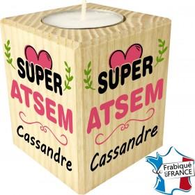 Porte Bougie personnalisable Super ATSEM (mod64) - Cadeau personnalise personnalisable - 1