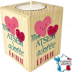 Porte Bougie personnalisable Mon ATSEM adorée (mod65) - Cadeau personnalise personnalisable - 1