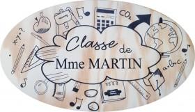 Plaque de Porte Ecole Modèle 28 - Cadeau personnalise personnalisable - 1