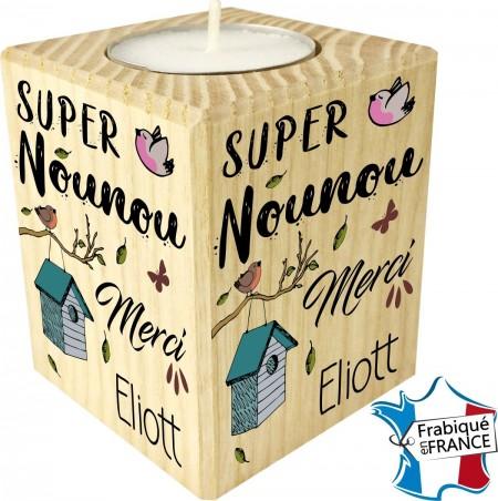 Porte Bougie Super Nounou Merci (mod8) - Cadeau personnalise personnalisable - 1
