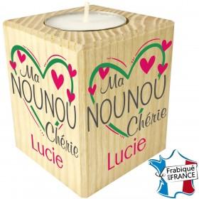Porte Bougie Ma Nounou Chérie (mod9) - Cadeau personnalise personnalisable - 1