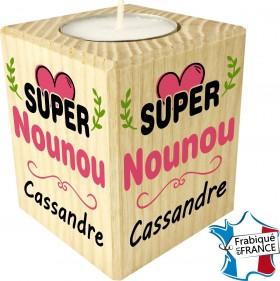 Porte Bougie Super Nounou (mod64) - Cadeau personnalise personnalisable - 1