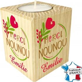 Porte Bougie Merci Nounou (mod66) - Cadeau personnalise personnalisable - 1