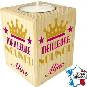 Porte Bougie Meilleure Nounou (mod70) - Cadeau personnalise personnalisable - 1