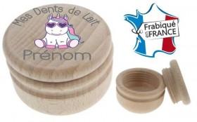 Boite à Dents de Lait bois licorne - Cadeau personnalise personnalisable - 1