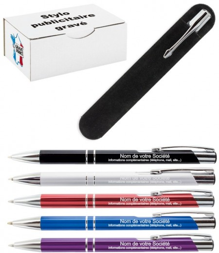Stylo Publicitaire avec VOTRE Logo - Cadeau personnalise personnalisable - 1