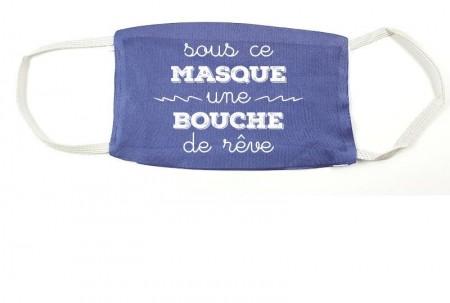 Masque Mod.G Sous ce masque une bouche de rêve - Cadeau personnalise personnalisable - 1