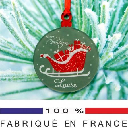 Déco de Sapin - Traîneau Père Noël - Cadeau personnalise personnalisable - 1
