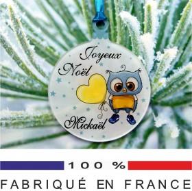 Déco de Sapin Joyeux Noël - Chouette z4 - Cadeau personnalise personnalisable - 1
