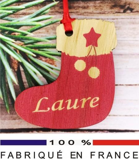 Déco de Sapin - Sujet Chaussette - Cadeau personnalise personnalisable - 1