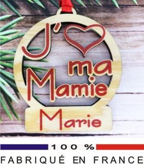 Déco de Sapin - J'aime ma Mamie - Cadeau personnalise personnalisable - 1