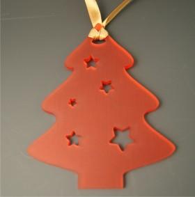Déco - Sapin couleur Rouge - Cadeau personnalise personnalisable - 1