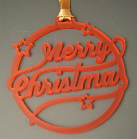 Déco de Sapin Merry Christmas - Couleur Rouge - Cadeau personnalise personnalisable - 1