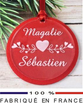 Décoration Sapin pour un Couple (Feut.8) - Cadeau personnalise personnalisable - 1