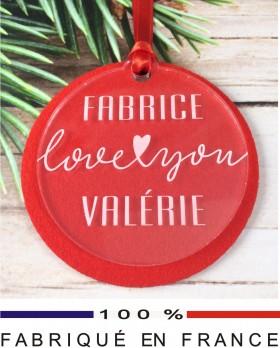 Décoration Sapin pour un Couple (Feut.2) - Cadeau personnalise personnalisable - 1
