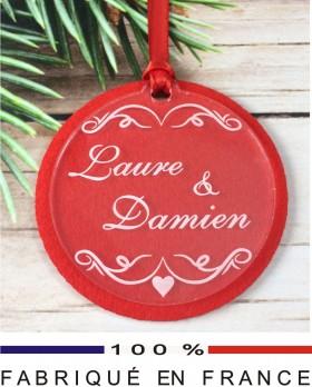 Décoration Sapin pour un Couple (Feut.1) - Cadeau personnalise personnalisable - 1