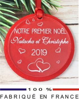 boule Notre 1er Noel feutrine - Cadeau personnalise personnalisable - 1