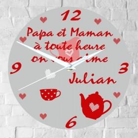 horloge personnalisee cadeau papa maman