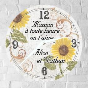 Horloge Maman Personnalisée - H.F - Cadeau personnalise personnalisable - 1