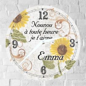 Horloge Nounou Personnalisée H.F - Cadeau personnalise personnalisable - 1