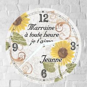 Horloge Marraine Personnalisée (H.F ) - Cadeau personnalise personnalisable - 1