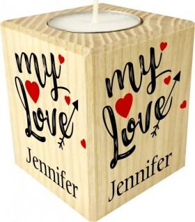 Bougie personnalise couple love you saint valentin noel anniversaire