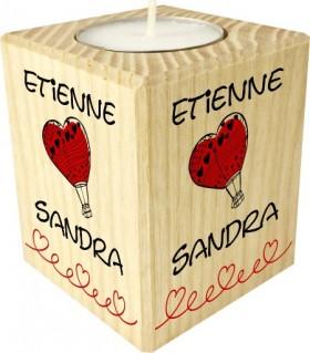 Bougie Saint Valentin Montgolfière
