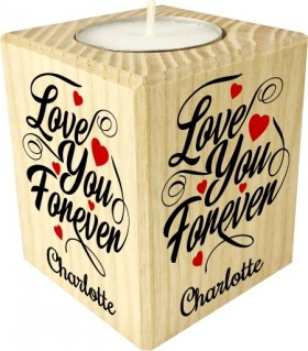 Bougie Saint valentin Love you forever