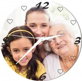 Horloge avec photo pour mamie