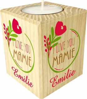 Bougie personnalisée I love you Mamie