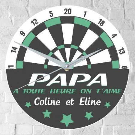 Horloge Papa Personnalisée - H.H - Cadeau personnalise personnalisable - 1