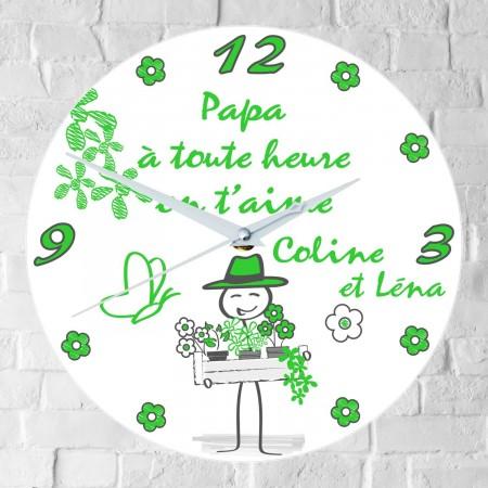 Horloge Papa Personnalisée - H.i - Cadeau personnalise personnalisable - 1